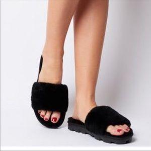UGG Colette Women's Slip On Slippers Black Sz 9